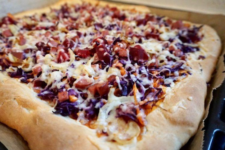 Foodistini Rezept Pizza mit Rotkohl Roter Beete