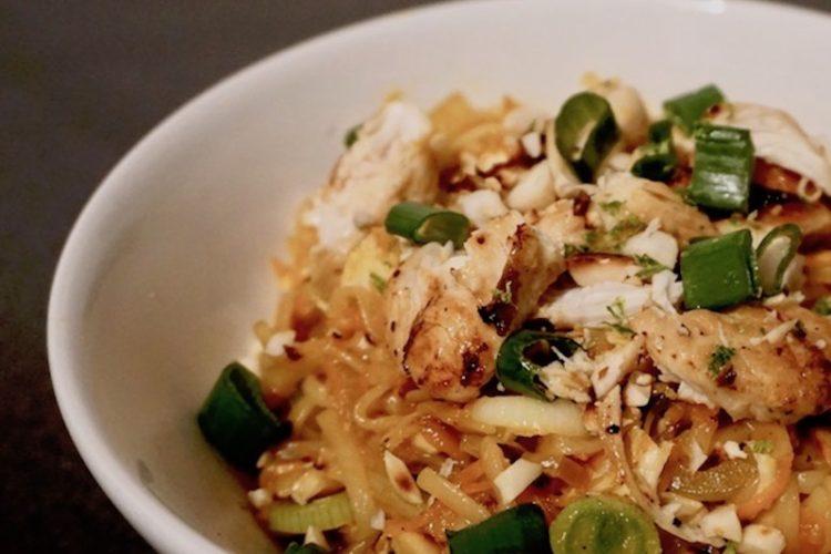 Take Out Style Nudeln Udon Hähnchen Asiatisch Rezept