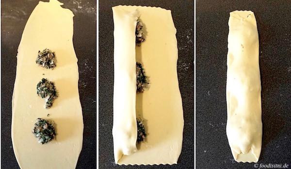 Foodistini Maultaschen gefüllte Nudeln formen 1